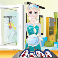 Play Elsa House Cleaning