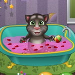 Talking Tom Bath