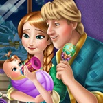 Anna and Kristoff Kid Feeding