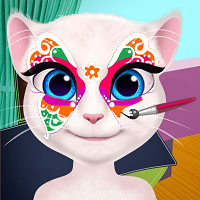 Play Talking Angela Face Painting