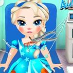 Little Elsa in the Ambulance