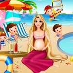 Rapunzel at the Pool