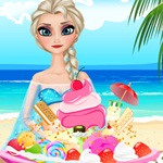 Elsa Ice Cream Decorating