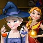 Elsa and Anna Magic Potion