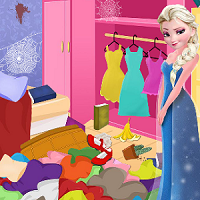 Play Elsa Bedroom Cleaning