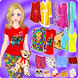 Play Doll Dress Up Pajama Party