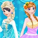 Elsa vs Anna Make Up Contest
