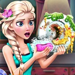 Elsa Dish Washing