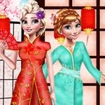 Elsa and Anna Japan Fashion