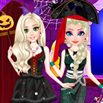 Princesses Sparkle Halloween Fashion