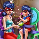 Ladybug Mommy Toddler Feed