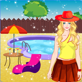 Play Doll Dress up - Pool Party